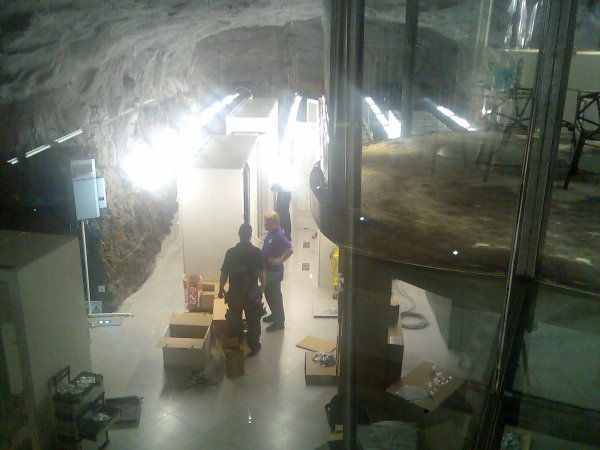 Serverhallen lite grand från ovan