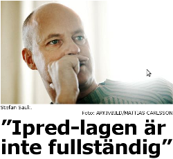 Stefan Sauk i Aftonbladet