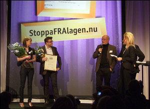 Stora Bloggprisets Hederspris 2009