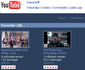 Piratpartiet på YouTube