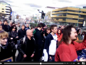 Manifestation på Götaplatsen den 19 april