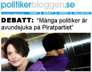 Camilla Lindberg (FP) skriver om Piratpartiet