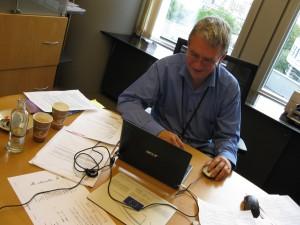 På kontoret i Bryssel
