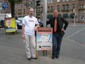 Andreas Popp och Emanuel Kotzian, kandidater till Bundestag