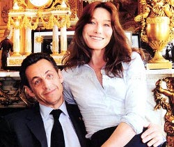 Frankrikes president Sarkozy med upphovsrättslobbyist