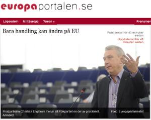 Läs debattartikeln hos Europaportalen