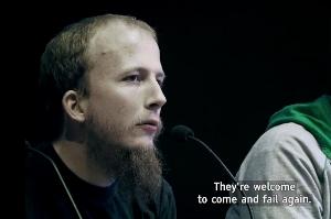 Gottfrid Svartholm-Warg (Anakata) i filmen TPB-AFK