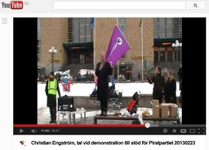 Video med mitt tal på Medborgarplatsen (17 min)