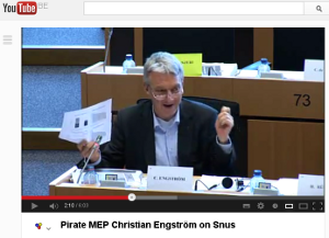 Watch my speech in IMCO on how snus could save lives in the EU (6 min)