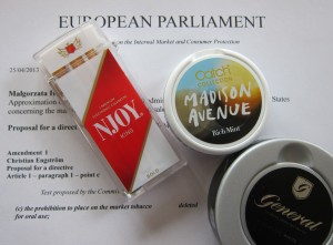 Electronic cigarettes and snus
