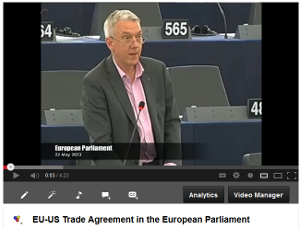 Exchange of views with Commissioner De Gucht on transperency and TTIP
