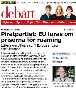 Läs min debattartikel hos Aftonbladet