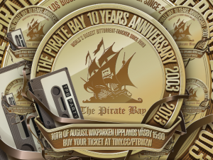 The Pirate Bay 10 år logo