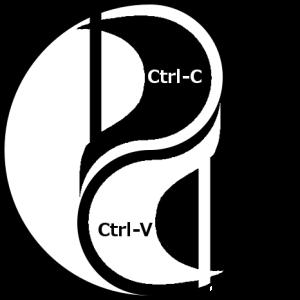 Pirate P Yin-Yang symbol