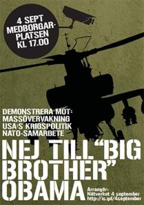 Demonstration ikväll onsdag 17.00 på Medborgarplatsen i Stockholm