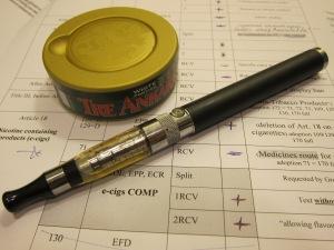 Omröstningen idag handlade om snus och elektroniska cigaretter