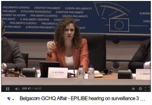 Holländska EU-parlamentarikern och hederspiraten Sophie in 't Veldt ledde utfrågningen. Se videon (1 tim 46 min)
