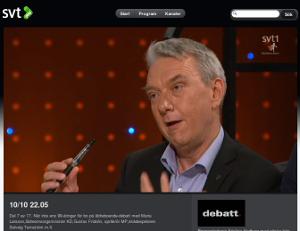 Se SVT Debatt om elektroniska cigaretter från 1:55 till 13:40