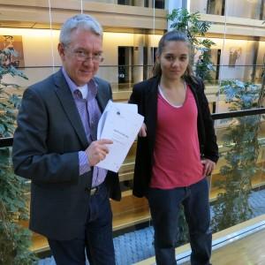 Jag och Amelia kommer toppa Piratpartiets lista i EU-valet 2014