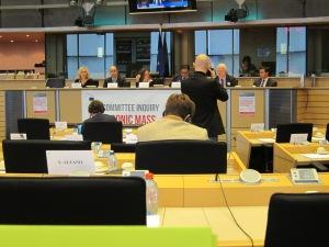 Utfrågning om massavlyssningen i EU-parlamentet idag