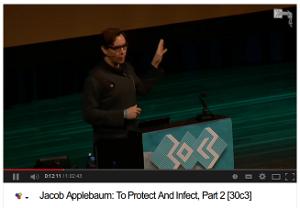 Se Jacob Applebaums föreläsning om vad NSA kan och gör (62 min)