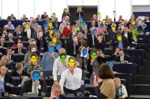 Vår manifestation igår i EU-parlamentet till stöd för att ge Snowden skydd i väst