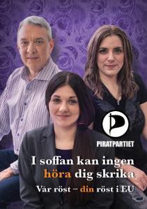 Rösta på Piratpartiet i EU-valet den 25 maj