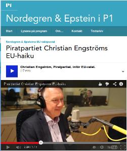 Lyssna på intervjun med mig hos Nordegren & Epstein i P1
