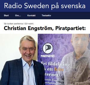 Läs vad jag och Piratpartiet tycker hos Sveriges Radio