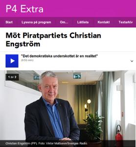 Läs intervjun eller lyssna hos P4 Extra