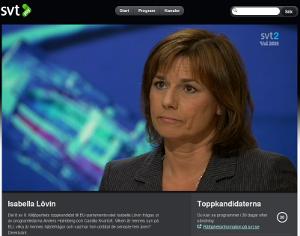 Se Isabella Lövin (MP) blåljuga om fildelningen från tidskod 23:10