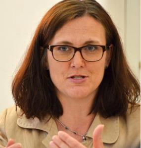 EU-kommissionär Cecilia Malmström har fått problem i EU-parlamentets utfrågning