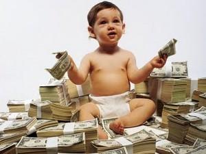 Barn med pengar