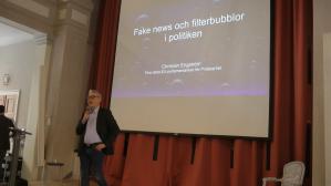 """Christian Engström, fd EU-parlamentariker för Piratpartiet, pratar om """"Fake news och filterbubblor i politiken"""""""