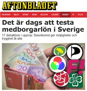 """Debattartikel: """"Det är dags att testa medborgarlön i Sverige"""""""