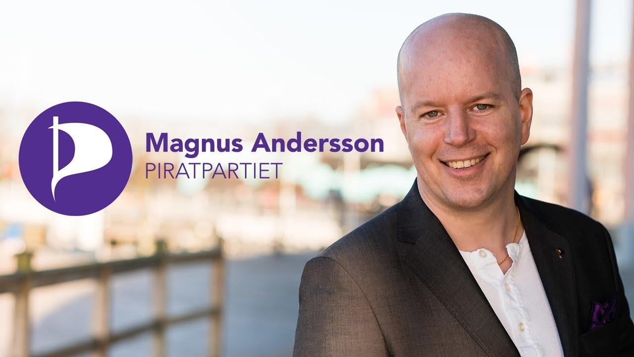 Magnus Andersson, Piratpartiet